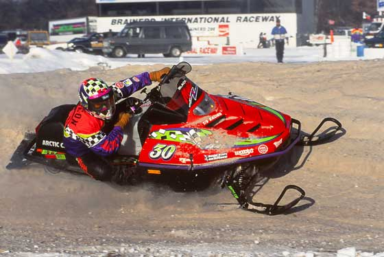 Brian Sturgeon on a 1995 Arctic Cat ZR at BIR
