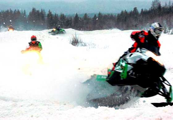 Team Arctic Cat 2012 Race School in Sweden