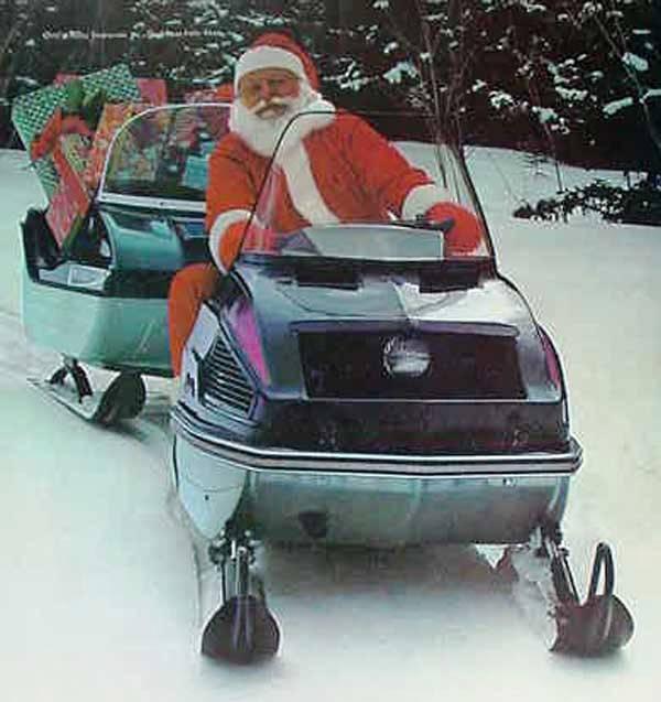 Confirmed! Santa Rides an Arctic Cat snowmobile