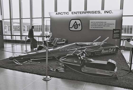 Arctic Cat display at the Mpls. airport