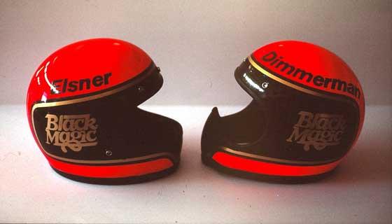Team Arctic helmets for Bob Elsner and Jim Dimmerman