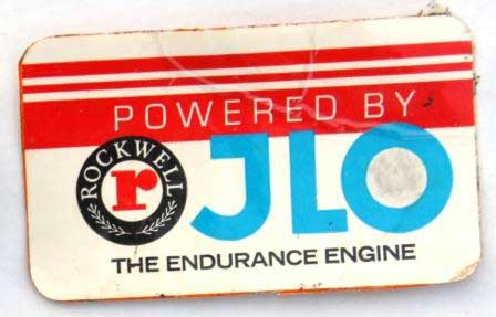 Engine decal from the Joey Hallstrom Collection