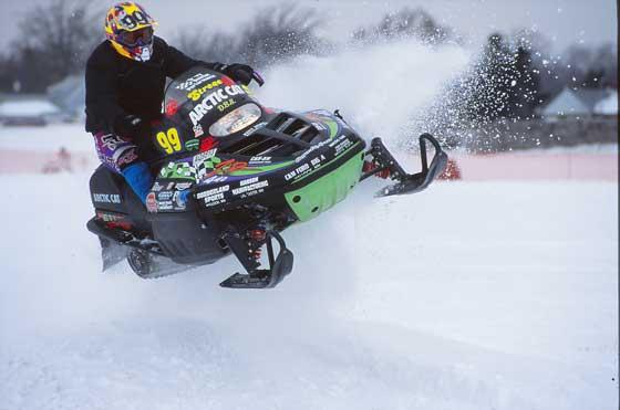 Team Arctic Cat's Jesse Strege goosing it in 1995