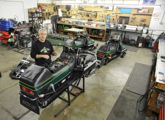 Brian Nelson is race-prepping an Arctic Cat Cross-Country El Tigre