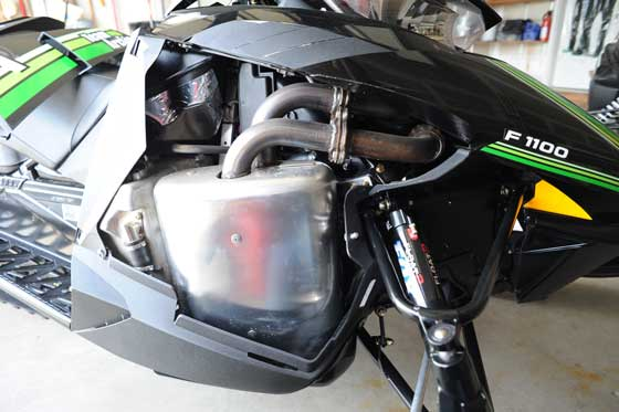 Side panel removed on 2012 Arctic Cat ProCross