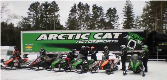 Arctic Cat Demo Rides on 2012 snowmobiles