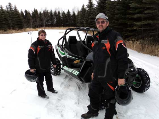 2012 Arctic Cat Wildcat on the snow