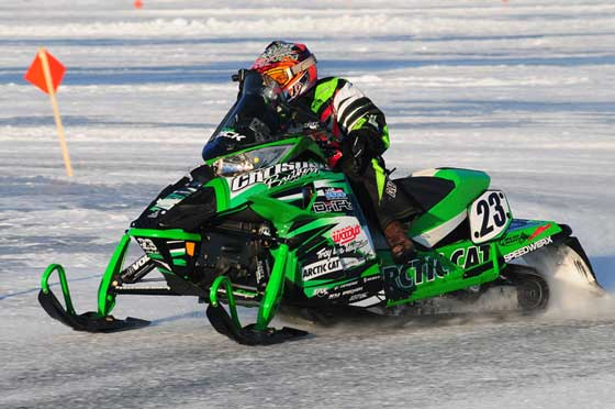 Team Arctic Cat's Brian Dick won Pine Lake, photo by Urquhart