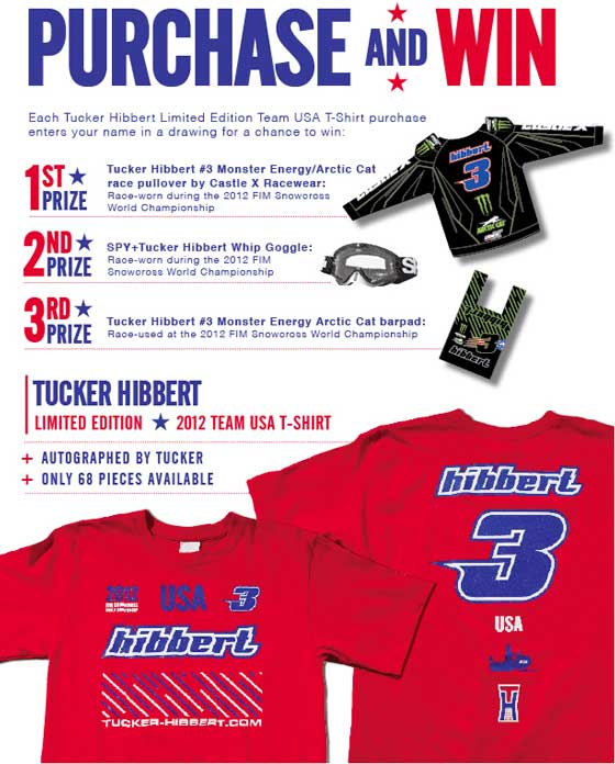 Tucker Hibbert limited edition 2012 World Snowcross t-shrit