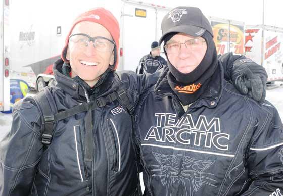 Team Arctic Cat race legend Dave Thompson (right)