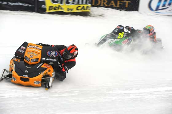 P.J. Wanderscheid chasing Matt Schulz