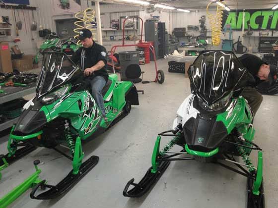 Brian & Paul Dick's 2012 Arctic Cat Iron Dog race sleds