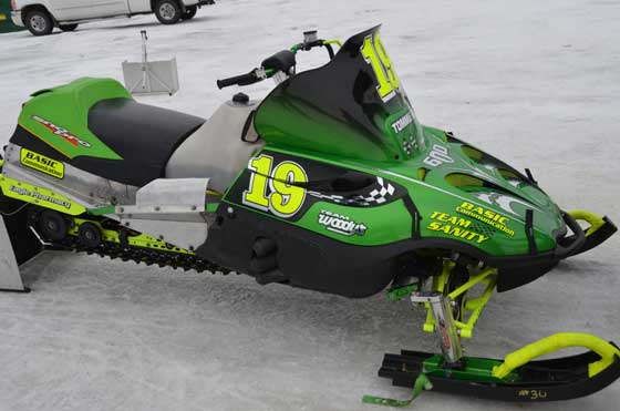 Arctic Cat race sleds at the 2012 Soo 500 enduro