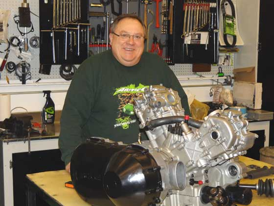 Greg Harris, Service Instructor at Arctic Cat, photo by Duane Rux