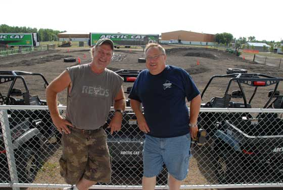 Greg Harris (R) and Dave Guenther at the Arctic Cat 50th Celebration