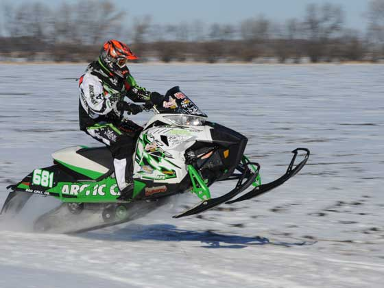 Team Arctic Cat racer, Chad Lian