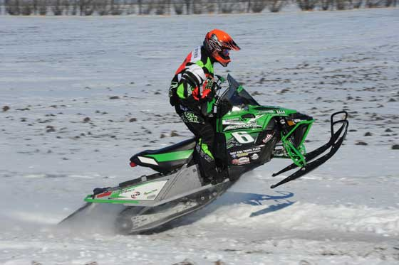 Arne Rantanan on the Arctic Cat Sno Pro 500