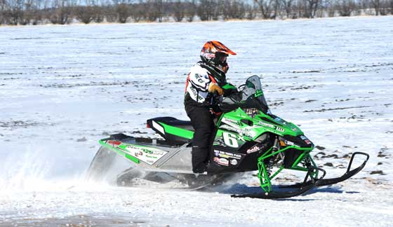 Team Arctic Cat racer Sara Larson