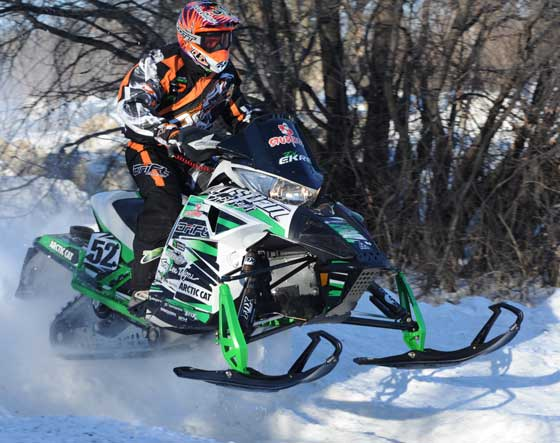 Team Arctic Cat DJ Ekre at Grafton, photo by ArcticInsider.com