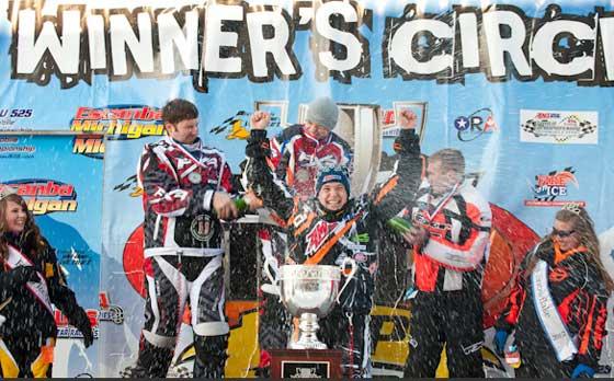 P.J. Wanderscheid 2012 TLR Cup winner on Arctic Cat
