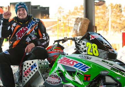 P.J. Wanderscheid 2012 TLR Cup winner on Arctic Cat