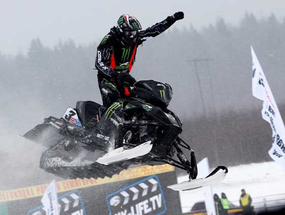 2012 Snocross World Champ Tucker Hibbert of Monster & Arctic Cat