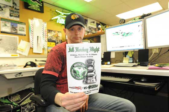 Corey Friesen, Arctic Cat Senior Graphics Stylist and hockey guru