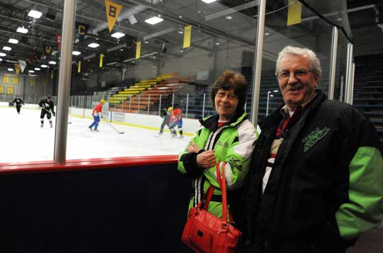 Roger and Bernice Skime at Arctic Cat Hockey Cup