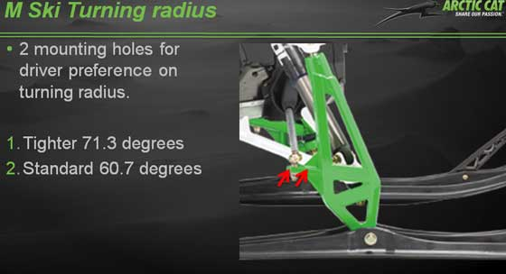 2013 Arctic Cat M snowmobile steering update