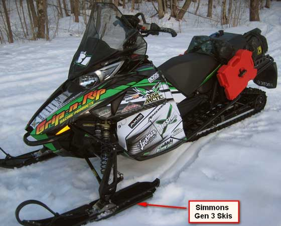 Lessard's 2012 Arctic Cat M prepped for Cain's Quest