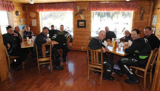 Arctic Cat crew at Elk Lake Resort