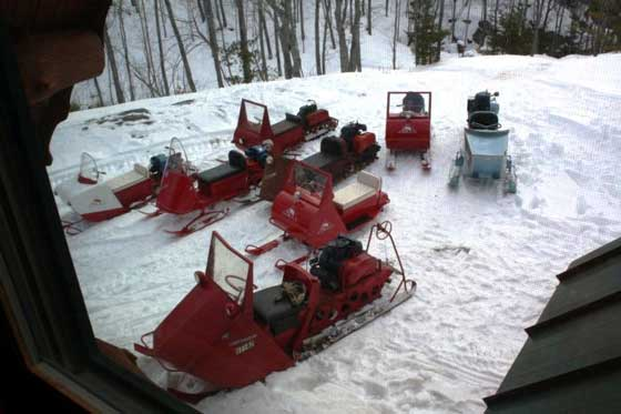 Antique Arctic Cat snowmobiles from ASCOA