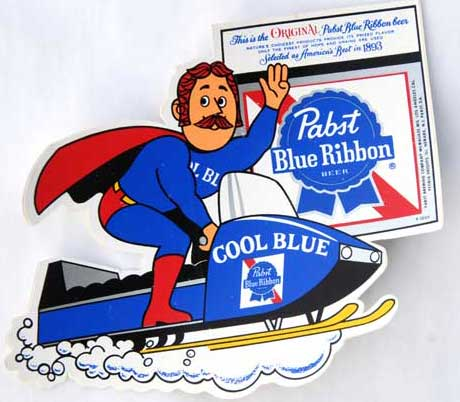 Pabst Snowmobile Man
