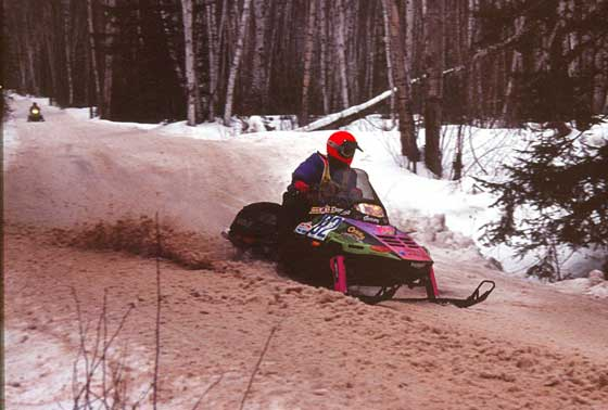 Team Arctic's Jeremy Fyle at the '92 Jeep 500