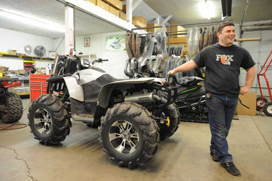 Jeremy Houle of Speedwerx and a butt-kicking Arctic Cat MudPro
