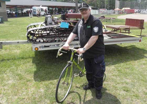 Bengan and an Arctic Cat bicycle