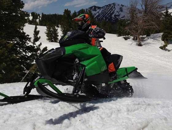 Prototype Arctic Cat Sno Pro race sled