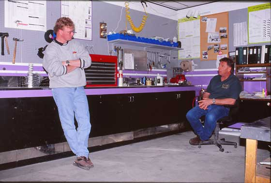 Team Arctic Race Shop with Joey and Al, circa 1990s