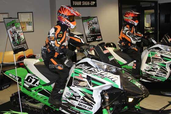 Christian Bros. Racing display at Arctic Cat