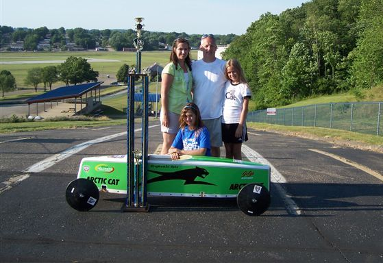 "Stephanie Getz ""Arctic Cat"" Soap Box Derby Car"