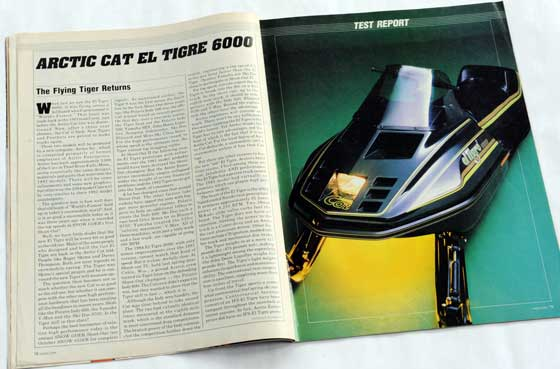 1984 Arctic Cat el Tigre in Snow Goer Magazine
