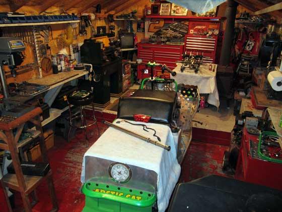 Inside Colt Dellandrea's Team Arctic Cat race shop