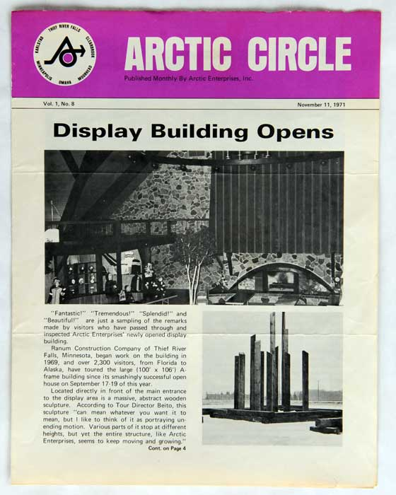 "Arctic Cat ""Circle"" Newsletter from Nov. 11, 1971"