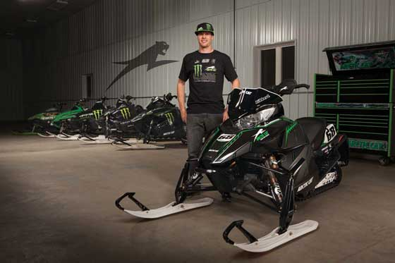Tucker Hibbert and the Arctic Cat F800 Race Replica
