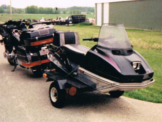 Webmaster's frankenstein towing situation with an Arctic Cat Panther