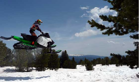 Testing a prototype 2013 Arctic Cat Sno Pro Race Sled