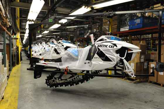 Arctic Cat XF 1100 Limited on the production line