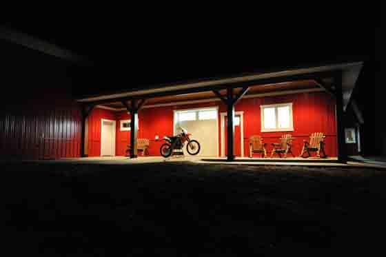 Night settles on the Hibbert Farm