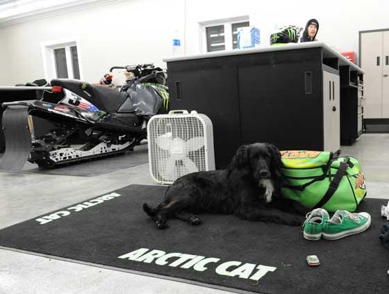 Inside Tucker's race shop