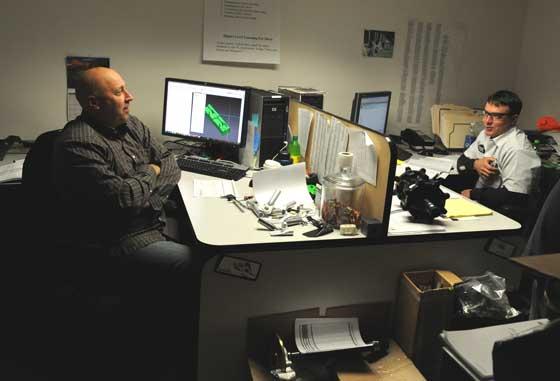 Ron Bergman and Brian Dick, engineers at Arctic Cat